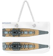 Yamato Class Battleships Top View Weekender Tote Bag