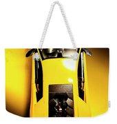 Yellow And Black Weekender Tote Bag