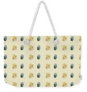 Yellow And Green Present Pattern Weekender Tote Bag