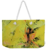 Yellow Blooms Coral Accents Weekender Tote Bag