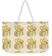 Yellow Presents Pattern Weekender Tote Bag