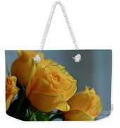 Yellow Roses Weekender Tote Bag by Ann E Robson