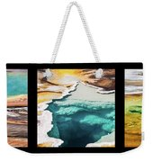 Yellowstone Hot Springs Triptych Weekender Tote Bag