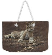Young Bobcat By Alan M Hunt Weekender Tote Bag by Alan M Hunt