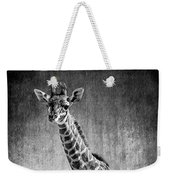 Young Giraffe Black And White Weekender Tote Bag