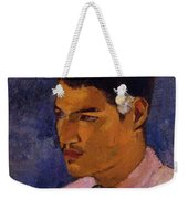 Young Man With A Flower Behind His Ear 1891 Weekender Tote Bag