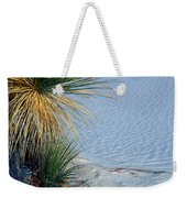 Yucca Plant In Rippled Sand Dunes In White Sands National Monument, New Mexico - Newm500 00113 Weekender Tote Bag