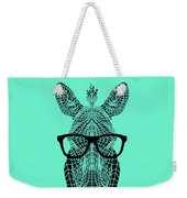 Zebra In Glasses Weekender Tote Bag