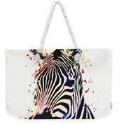 Zebra Watercolor Painting Weekender Tote Bag