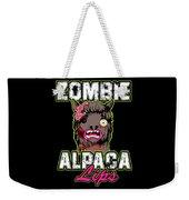 Zombie Alpaca Lips Halloween Pun Llama Alpacalypse Dark Weekender Tote Bag