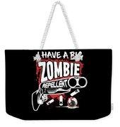 Zombie Repellent Halloween Funny Gun Art Dark Weekender Tote Bag