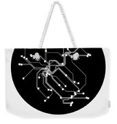Zurich Black Subway Map Weekender Tote Bag
