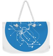 Zurich Blue Subway Map Weekender Tote Bag