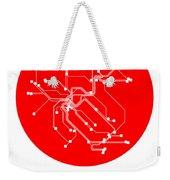 Zurich Red Subway Map Weekender Tote Bag