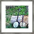 Banjos At The Woodpile Framed Print