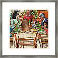 Bless Us O Lord And These Thy Gifts Framed Print