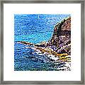 California Coastline  Framed Print by David Lloyd Glover