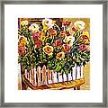 Chair Of Flowers Framed Print