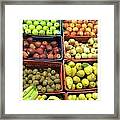 Fruit Assisi Italy Market Framed Print