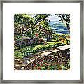 Garden Stairway Framed Print by David Lloyd Glover