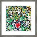Roaring Enamel Tiger Framed Print