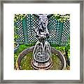 001 Fountain Buffalo Botanical Gardens Series Framed Print