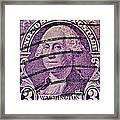 1932 George Washington Stamp Framed Print