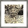 1 A Maze Ing Man Sepia Framed Print