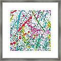 Abstract Color Splash Framed Print