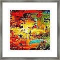 Abstract Large Painting Framed Print