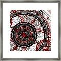 Abstract Mechanical Fractal Framed Print