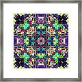 Abstract Symmetry Of Colors Framed Print