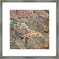 Aerial View Of Andalusia. Spain Framed Print