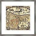 Antique Map Of Holland 1630 Framed Print