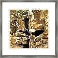 Bayon Faces - Angkor Wat - Cambodia Framed Print