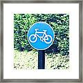 Bicyle Route Framed Print