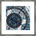 Blue Clockwork Framed Print