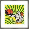 Boxer Boxing Jabbing Front Framed Print
