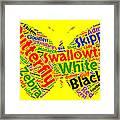 Butterfly Word Cloud Framed Print