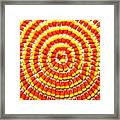 Candy Corn In Circles Framed Print
