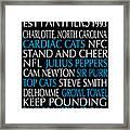 Carolina Panthers Framed Print by Jaime Friedman
