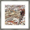 City Of Seville Cityscape In Spain Framed Print