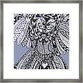 Close Up Owl Blue Framed Print