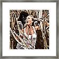 Corn Field Horror Framed Print