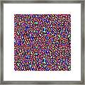 Cosmic Star Sparkles Spectrum Abstract Art By Navin Joshi Created Out Of Christmas Lights Gifts And  Framed Print