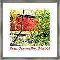Covered Bridge In Autumn Fairmount Park Philadelphia Framed Print