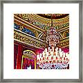 Crystal Chandelier In Dolmabache Palace In Istanbul-turkey  Framed Print