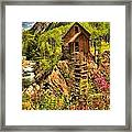 Crystal Mill Wildflowers Framed Print