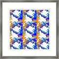 David Repeat Treatment One Color Framed Print