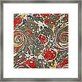Decorative Endpaper From A Nineteenth Framed Print